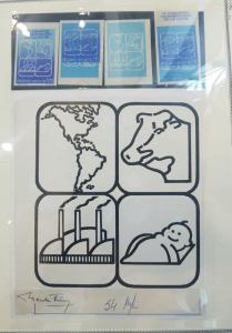 L)1989 URUGUAY, 3RD PAN AMERICAN MILK CONGRESS, WON, COW, INDUSTRY, BOY, BLUE, A