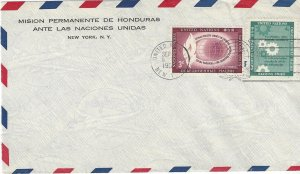 United Nations Mission Honduras New York Cover 1957?