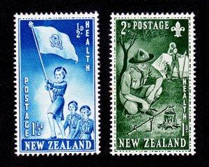 NEW ZEALAND SCOTT #B42-B43 SEMI-POSTALS HEALTH CAMPS MNH-OG 1953