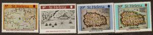 ST.HELENA SG373/6 1981 EARLY MAPS  MNH