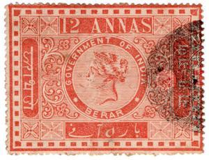 (I.B) India (Princely States) Revenue : Berar State Duty 12a