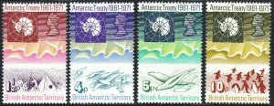 British Antarctic Territory 39-42, MNH. Map, Sea gulls, Seals, Penguins, 1971