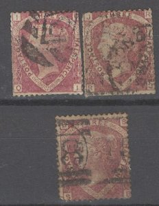 COLLECTION LOT # 2143 GREAT BRITAIN #31 (3 STAMPS) 1860 CV=$195 1st ROW  FAULTY