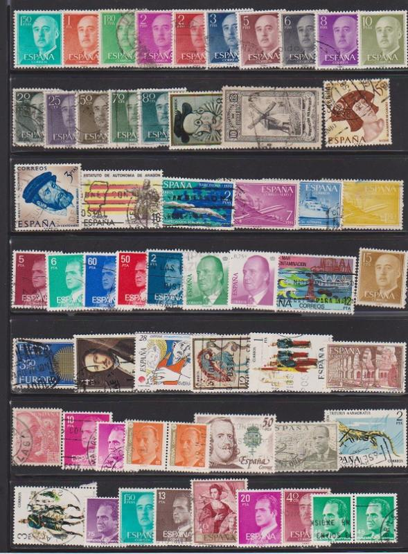 LOT OF DIFFERENT STAMPS OF SPAIN USED (56) LOT#125
