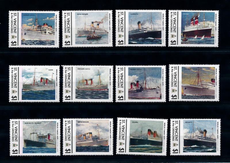 [76043] St. Vincent & Gren.  Famous Ships Ocean Liners Steamers  MNH
