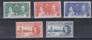 ASCENSION  1937 - 46   CORONATION & VICTORY SETS  M H