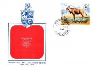 Lesotho, Worldwide First Day Cover, World Life Fund