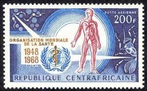 Central African Republic Sc# C53 MH 1968 World Health Organization 20th