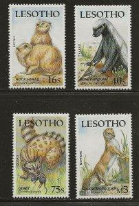 Lesotho (1986)  - Scott # 655 - 658,  MNH