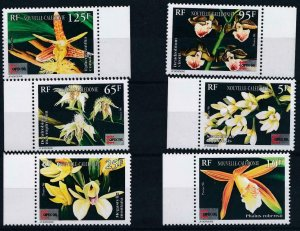 New Caledonia 1996 #741-6 MNH. Orchids, expo