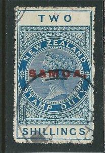 SAMOA 1914-24 2s BLUE FU (PMK 29 NO 17) FU SG 122 CAT £100