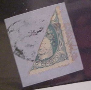 CUBA STAMP BISECT #47A cat.$250.00 on COVER THIS IS A PIECE
