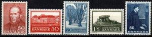 Denmark #425-9 MNH CV $4.45 (X2916)