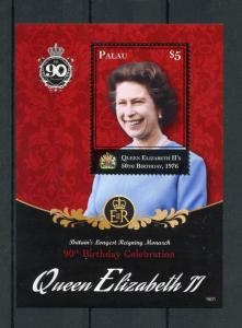Palau 2016 MNH Queen Elizabeth II 90th Birthday Longest Reigning 1v S/S Stamps