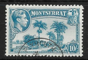 MONTSERRAT SG111 1948 10/= PALE BLUE USED