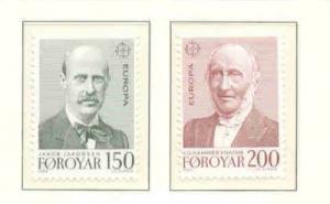 Faroe Islands Sc 53-4 1980 Europa stamp set mint NH
