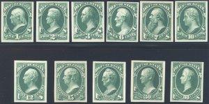 US Scott #O57TC4d-O67TC4d Mint, F-XF, NGAI, Atlanta