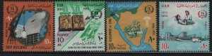 EGYPT, 698-701, (4) SET,  HINGED, 1966, 14th anniv. of the revolution