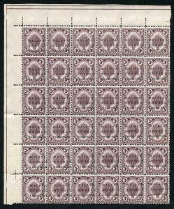 Kedah SG46/bcdf 3c Block of 36 with FOUR Different Varieties U/M