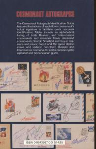 Cosmonaut Autographs Identification Guide Space Postal Cover History Book