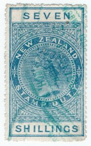 (I.B) New Zealand Revenue : Stamp Duty 7/- (reversed watermark)