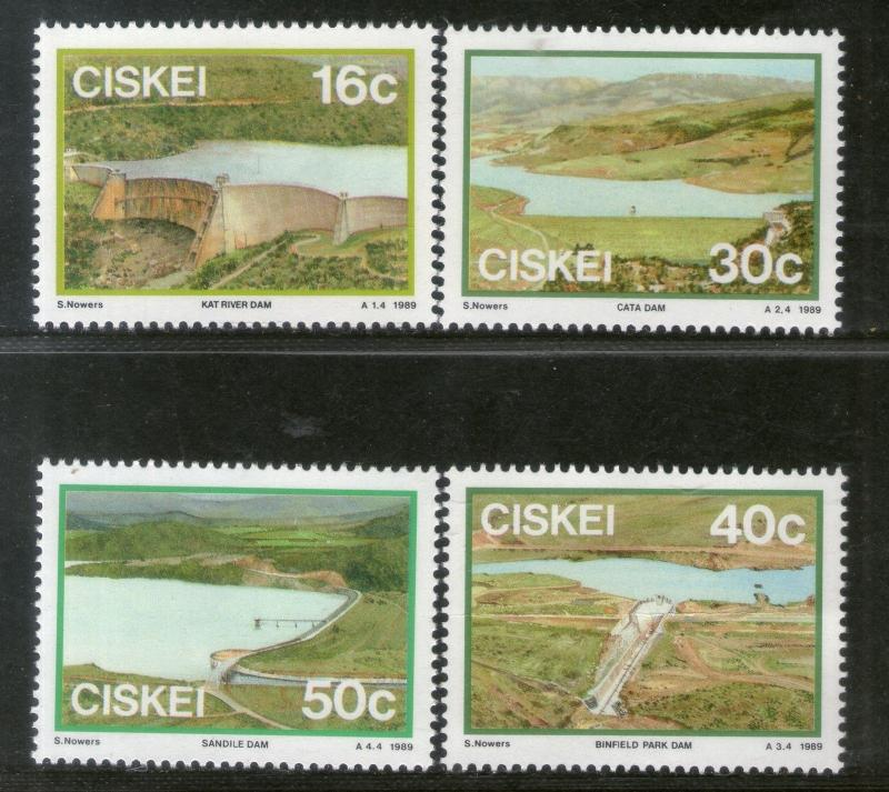 Ciskei 1989 Dams Irrigation River Architecture Lake Sc 131-34 MNH # 501