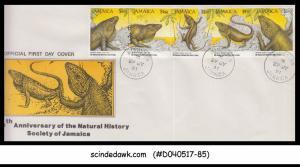 JAMAICA - 1991 50th Anniversary of the Natural History Society / REPTILES - 5V -