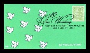 BGC 3999 Our Wedding .63 Green Doves (Cheap Wedding Gift)