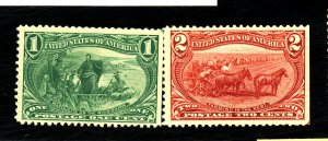 285-6 MINT FVF OG PAPER HR STRAIGHT EDGES Cat $52