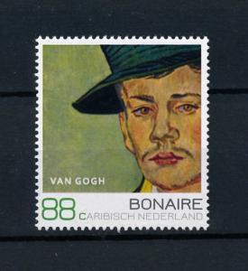 [100495] Caribbean Netherlands 2016 Painting v Gogh Portrait Armand Roulin  MNH