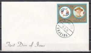 Fujeira, Mi cat. 1313 A. Scout Baden Powell issue on a First day cover. ^