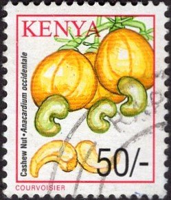 Kenya 760 - Used - 50/- Cashews (2001) (cv $2.25)