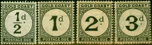 Gold Coast 1923 Postage Due Set of 4 SGD1-D4 Fine Very Lightly Mtd Mint