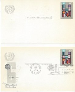 United Nations New York UX5 Postal Card Mint and Artmaster FDC