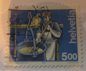 1993 Switzerland SC #848 INDUSTRY used stamp