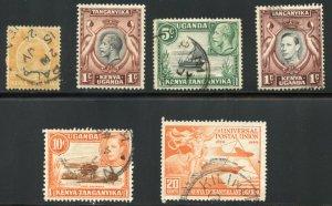 Kenya, Uganda, & Tanzania - Grouping of 17 Used Stamps - SCV $6.60