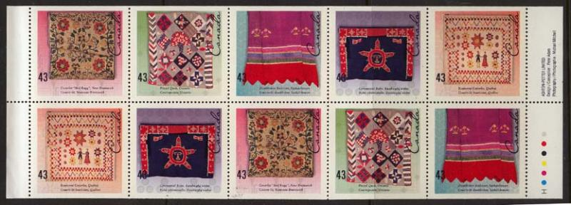 Canada - 1993 Handcrafted Textiles Booklet Pane #1465b