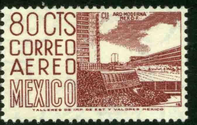 MEXICO C265a, 80cents 1950 Definitive 2nd Printing wmk 300.MINT, NH. F-VF.