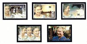 Cayman Is 648-52 MNH 1992 QEII 40th Anniversary of Reign    (KA)