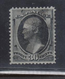 USA #154 Very Fine Used Reperfed At Top & Small Corner Crease At Bottom *Cert.