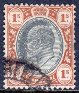 Transvaal - Scott #275 - Used - Mult. Crown CA Wmk. - Pencil/reverse - SCV $0.60