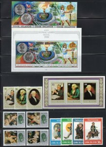 Cook Islands 1980's Collection Sets, Souvenir Sheets + Mini-Sheets MNH CV$410