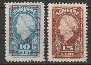 Suriname 1946 Sc CB2-3 set MNH