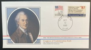 US #1545,2115c w/T On Cover - Bicentennial of Constitution 1787-1987 [BIC61]
