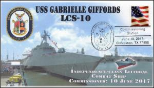 17-272, 2017, USS Gabrielle Giffords, LCS-10, Navy, Commissioning, Event Cover
