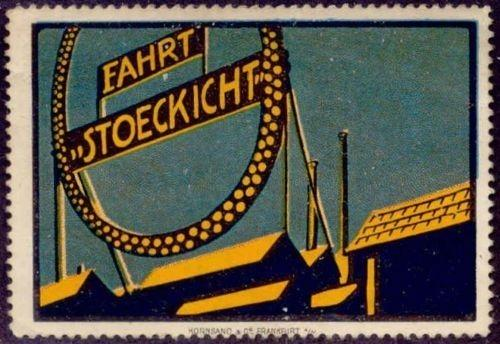 Stoeckicht Bicycle Advertising Poster Stamp