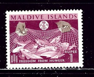 Maldive Is 123 MNH 1963 issue from Freedom from Hunger set