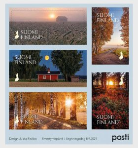 Stamps of Finland 2021.- Glimmer of Fall - Miniature Sheet.