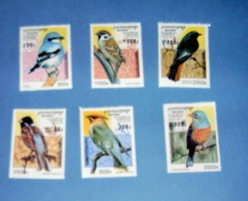 Cambodia - 1598 - 1603, MNH Set...Birds. SCV - $12.50