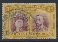 British South Africa Company / Rhodesia  SG 136 Poor used   see details and scan
